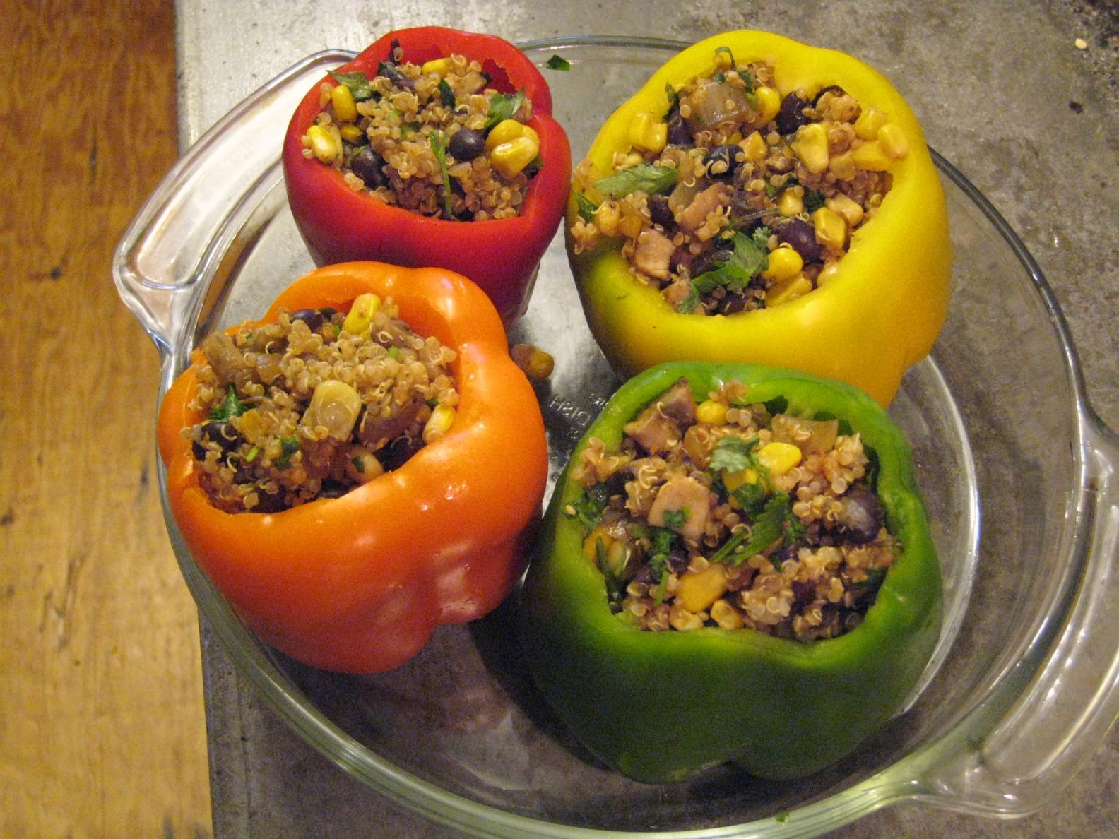 Vegan Stuffed Peppers | Jennifer Moss