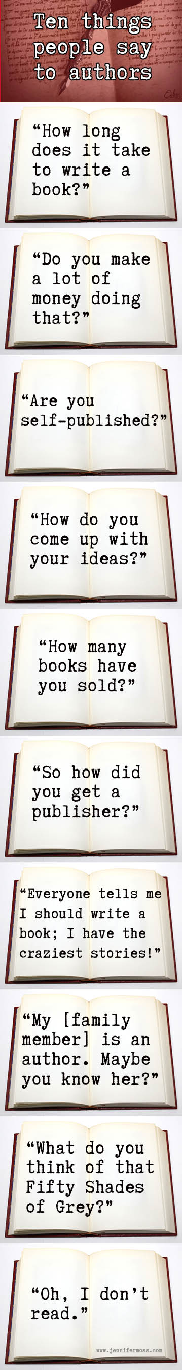 10 Things People Say to Authors